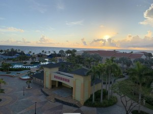 Sunrise from hotel room